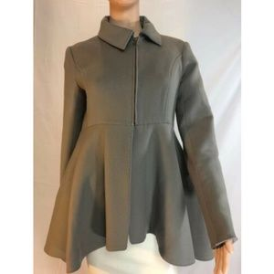 Yves Saint Laurent Womens Coat Green Wool  Sz 38